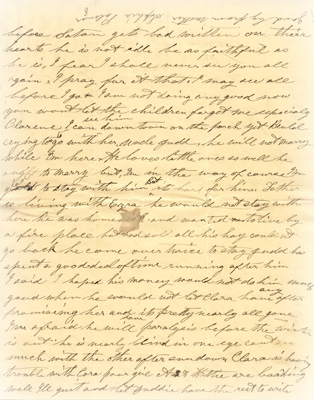 formal letter background. Sophia (Lyman) Palmer Letters